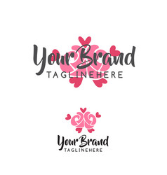 rose flower wedding logo vector image