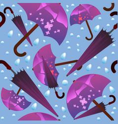 seamless pattern of umbrellas vector image
