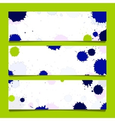 set of three banners abstract headers vector image