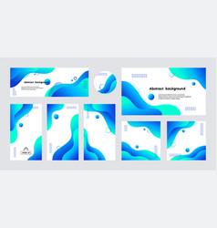Social media stories posts cover banner vector