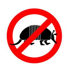 stop armadillo ban nine-hip armadillo red vector image