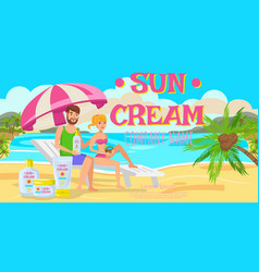 sunscreen for whole family vector image