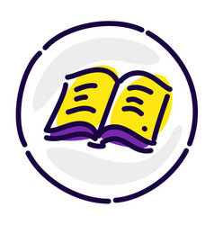 the book is yellow pages an exclusive logo a sign vector image
