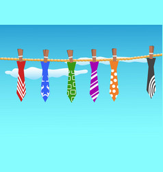 ties hanging in the sky vector image