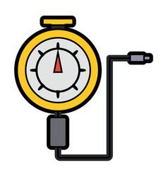 Tire gauge icon vector