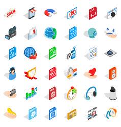Web folder icons set isometric style vector