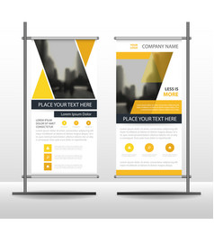 yellow triangle business roll up banner flat vector image