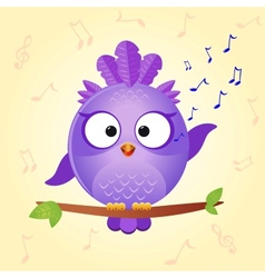 bird sing vector image vector image