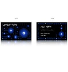 Black modern business card vector image
