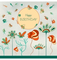 Kids birthday card vector image vector image