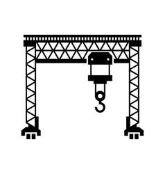 Lifting Machine Icon on White Background vector image