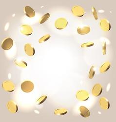 Money shower festive background vector image vector image