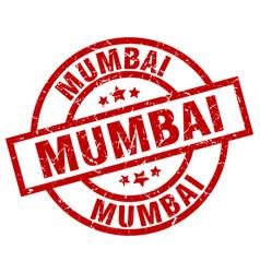 mumbai red round grunge stamp vector image vector image