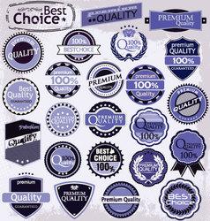 retro label style collection purple set vector image vector image