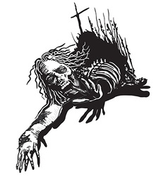 Undead Zombie - freehand sketching vector image vector image