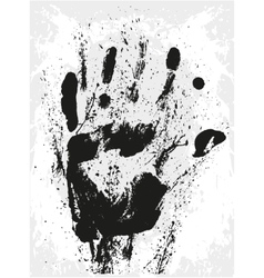 Abstract grunge hand vector image
