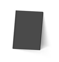 Black book on white mockup template vector
