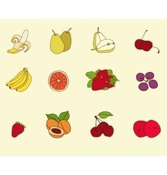 Fruit set sketch vector image vector image