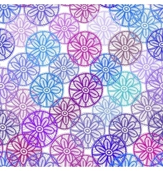 Lace seamless pattern with lilac pink purple blue vector image