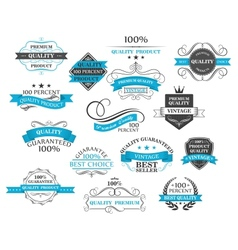 Retro labels headers and calligraphic elements vector image vector image