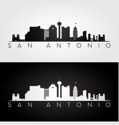 san antonio usa skyline and landmarks silhouette vector image vector image