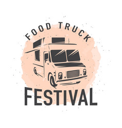 street food truck graphic vector image vector image