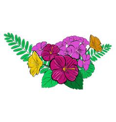 summer flowers bouquet vector image