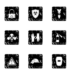 Construction icons set grunge style vector image vector image
