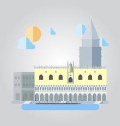 Flat design of Italian building cityscape vector image vector image