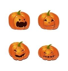 Halloween set with pumpkins vector image vector image
