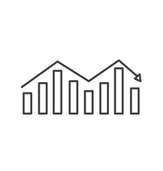line business statistic graph to company vector image vector image