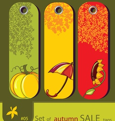 nature autumn tags vector image vector image
