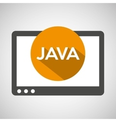web development java technology vector image vector image