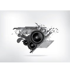 Abstract music retro grunge background vector image vector image