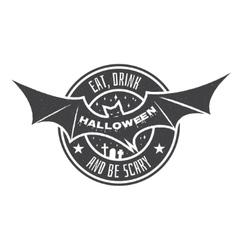 Halloween vintage badge emblem or label vector image vector image