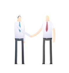 handshake of two businessmen vector image vector image