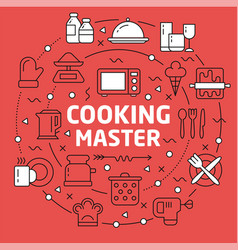 lines background cooking vector image