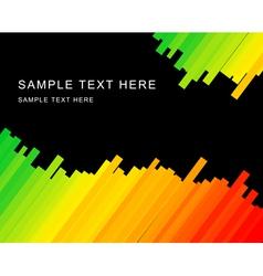 rainbow stripes vector image vector image