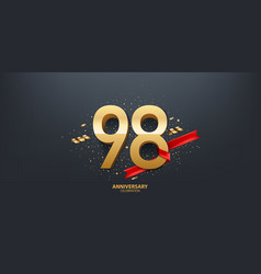 98th year anniversary background vector