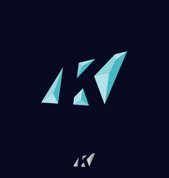 abstract letter k vector image