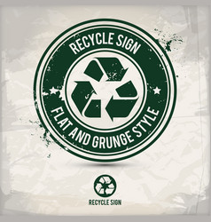 alternative flat recycle sign stamp vector image