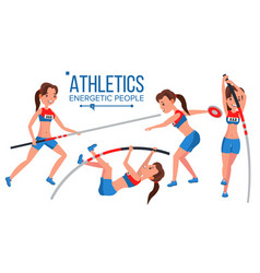 athletics female player win concept vector image