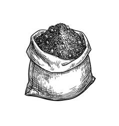 Bag of cocoa powder vector