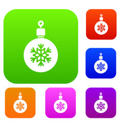 ball for the christmas tree set collection vector image