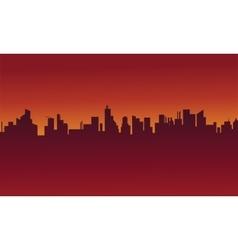 Big urban scenery silhouettes stock vector image