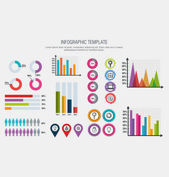 Business infographic template icons vector