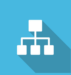 Business structure hierarchy flat minimalist icon vector