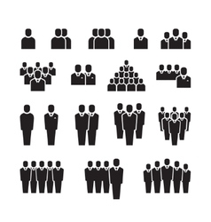 Business team silhouette people employee group vector image