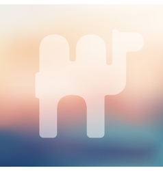 Camel icon on blurred background vector