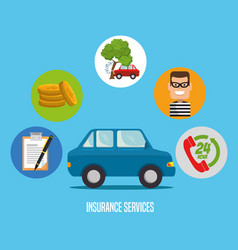 car insurance service concept vector image